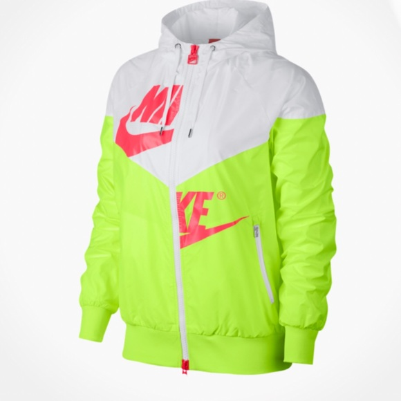 8e16ceb05898 Nike Jackets   Blazers - Nike Windrunner Neon Jacket White Volt Hot Punch